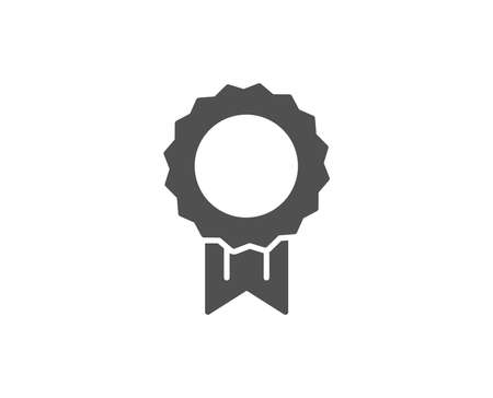 Award Medal simple icon. Winner achievement symbol. Glory or Honor sign. Quality design elements. Classic style. Vector Vettoriali
