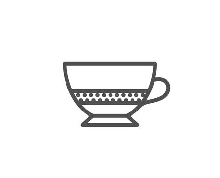 Bombon coffee icon. Hot drink sign. Beverage symbol. Quality design element. Editable stroke. Vector
