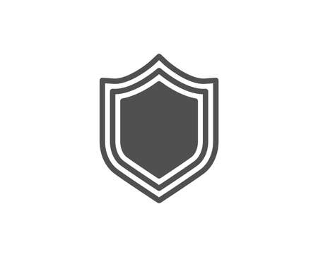 Shield simple icon. Protection or Security sign. Defence or Guard symbol. Quality design elements. Classic style. Vector Фото со стока - 95405269