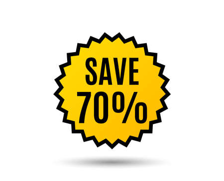 70%オフサインベクトルを保存