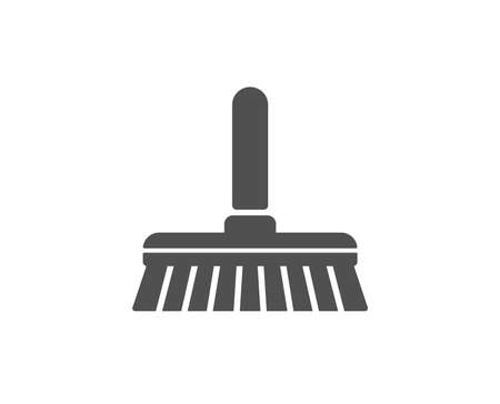Cleaning mop simple icon. Sweep or Wash a floor symbol. Washing Housekeeping equipment sign. Quality design elements. Classic style. Vector Ilustracja
