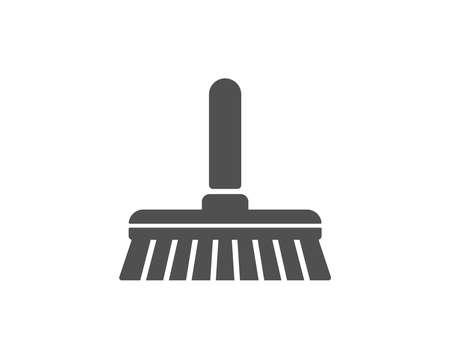Reiniging mop eenvoudig pictogram. Een vloersymbool vegen of wassen. Wassen huishouden apparatuur teken. Kwaliteitsontwerpelementen. Klassieke stijl. Vector