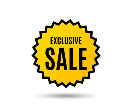 Exclusive Sale. Special offer price sign. Advertising Discounts symbol. Star button. Graphic design element. Vector