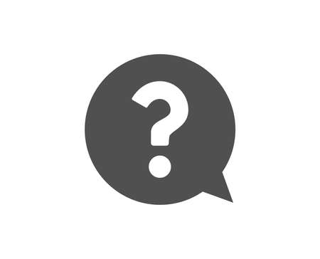 Question mark simple icon. Help speech bubble sign. FAQ symbol. Quality design elements. Classic style. Vector Vettoriali