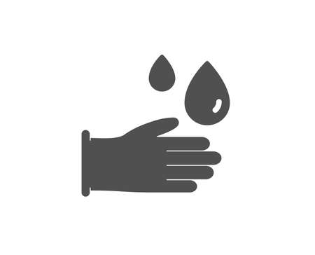 Cleaning rubber gloves simple icon. Hygiene sign. Washing Housekeeping equipment sign. Quality design elements. Classic style. Vector