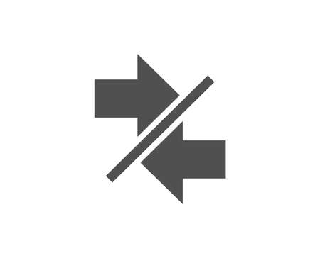Synchronize arrows simple line icon. Illustration