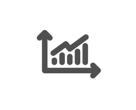 Chart simple icon. Report graph or sales growth sign. Analysis and statistics data symbol. Quality design elements. Classic style. Vector illustration.