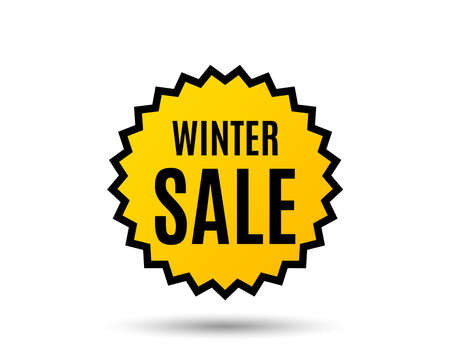 Winter sale graphic icon. Ilustrace