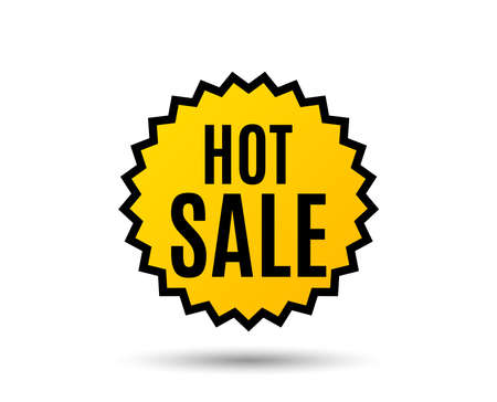 Hot sale graphic icon. Illustration