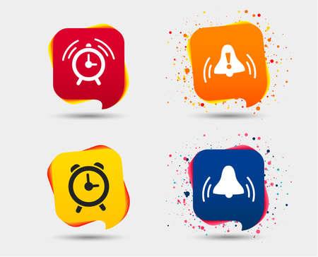 Set of alarm clock icons.