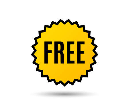 Free symbol, special offer concept icon.  イラスト・ベクター素材