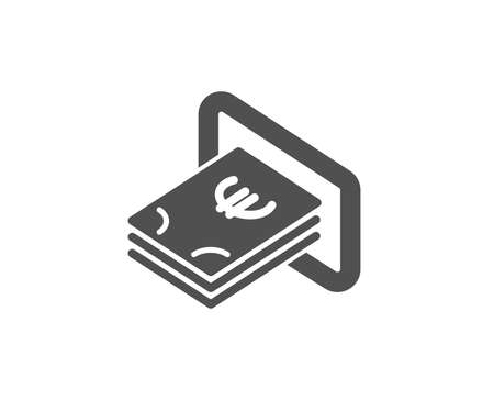 Cash money simple icon. Banking currency sign. Euro or EUR symbol. Quality design elements. Classic style. Vector illustration. 版權商用圖片 - 95524441