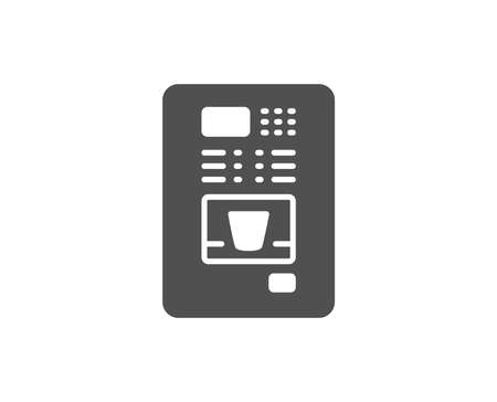Coffee vending machine simple icon. Hot drink sign. Fresh beverage symbol. Quality design elements. Classic style. Vector illustration. 일러스트