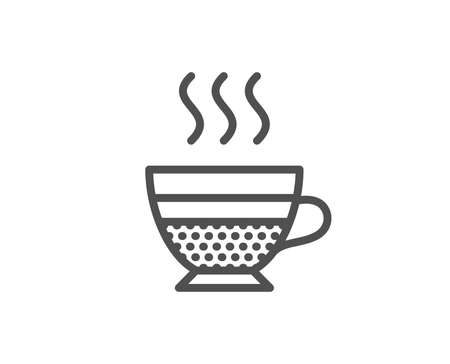 Cafe creme icon. Hot drink sign. Beverage symbol. Quality design element. Editable stroke. Vector illustration.