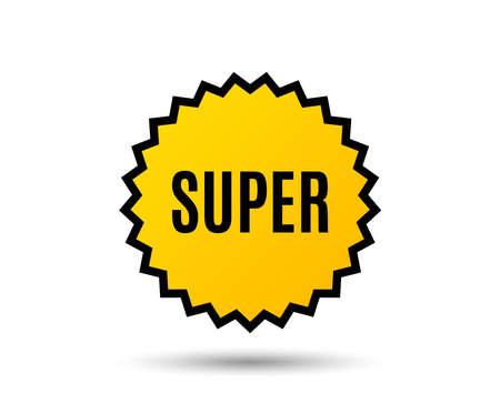 Super symbol. Special offer sign. Best value. Star button. Graphic design element. Vector illustration.