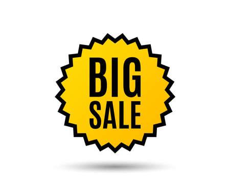 Big Sale. Special offer price sign. Advertising discounts symbol. Star button. Graphic design element. Vector illustration. Illustration