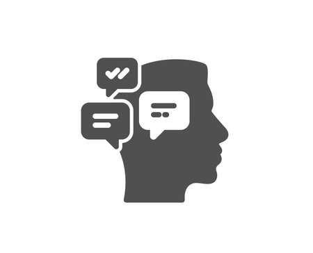 Chat messages simple icon. Conversation sign. Communication speech bubbles symbol. Quality design elements. Classic style. Vector illustration. 일러스트