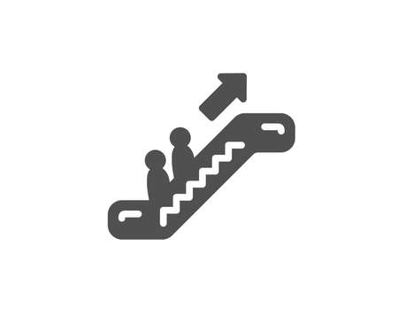 Escalator simple icon. Elevator sign. Shopping stairway symbol. Quality design elements. Classic style. Vector illustration.
