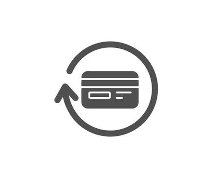 Credit card simple icon. Banking payment card sign. Cashback service symbol. Quality design elements. Classic style. Vector illustration.