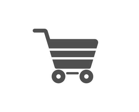 Shopping cart simple icon. Online buying sign. Supermarket basket symbol. Quality design elements. Classic style. Vector