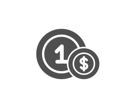 Coins simple icon. Money sign. Dollar currency symbol. Cash payment method. Quality design elements. Classic style. Vector Ilustrace
