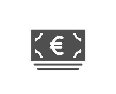 Cash money simple icon. Banking currency sign. Euro or EUR symbol. Quality design elements. Classic style. Vector