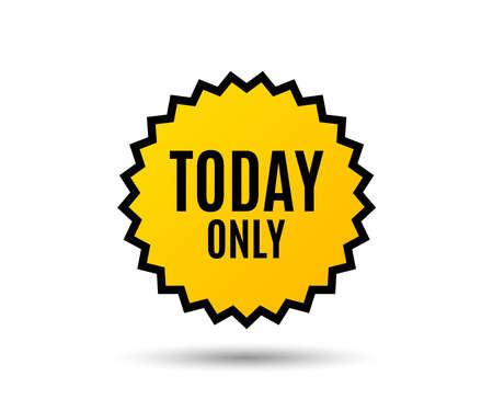 Today only sale symbol. Special offer sign. Best price. Star button. Graphic design element. Vector Illustration