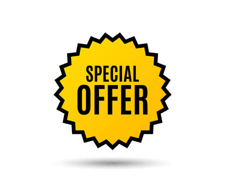 Special offer symbol. Sale sign. Advertising Discounts symbol. Star button. Graphic design element. Vector