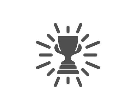 Award cup simple icon. Winner Trophy symbol. Sports achievement sign. Quality design elements. Classic style. Vector