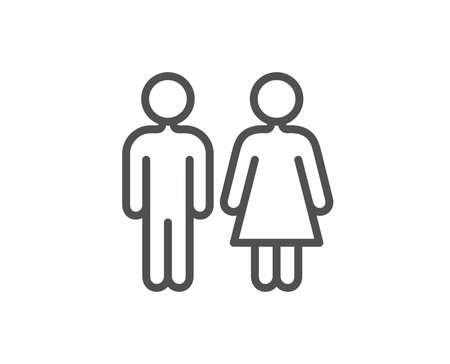 Restroom line icon. WC toilet sign. Public lavatory symbol. Quality design element. Editable stroke. Vector