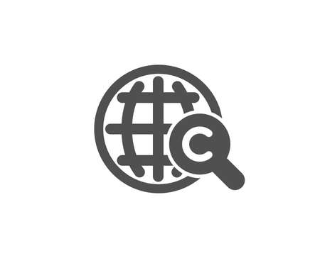 International Ð¡opyright simple icon. Copywriting sign. World symbol. Quality design elements. Classic style. Vector Illustration