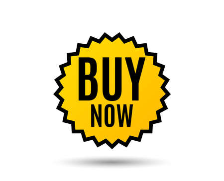 Buy Now. Special offer price sign. Advertising Discounts symbol. Star button. Graphic design element. Vector