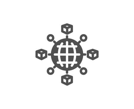 Logistics network simple icon.