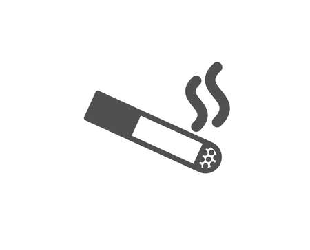 Smoking area simple icon. Cigarette sign. Smokers zone symbol. Quality design elements. Classic style. Vector. Illustration