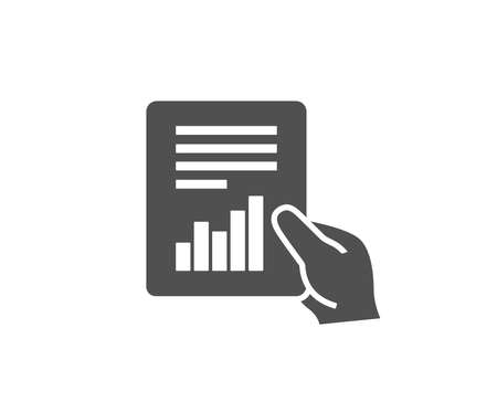 Hold Report document simple icon. Analysis Chart or Sales growth sign. Statistics data symbol. Quality design elements. Classic style. Illustration