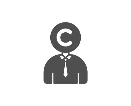 Ð¡opyrighter simple icon. Writer person sign. Copywriting symbol. Quality design elements. Classic style.