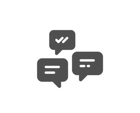 Chat Messages simple icon. Conversation or SMS sign. Communication symbol. Quality design elements. Classic style. Çizim