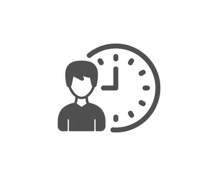 Business project deadline simple icon. Working hours or Time management sign. Quality design elements. Classic style. Vector.