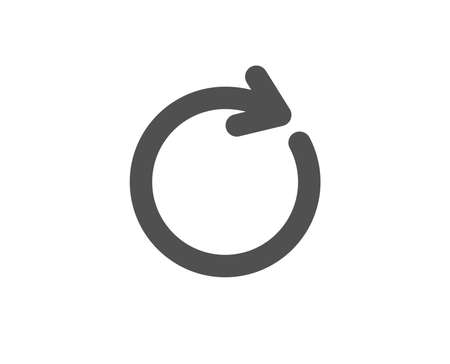 Refresh simple icon. Rotation arrow sign. Reset or Reload symbol. Quality design elements. Classic style. Vector.