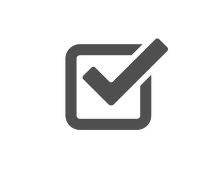 Check simple icon. Approved Tick sign. Confirm, Done or Accept symbol. Quality design elements. Classic style.