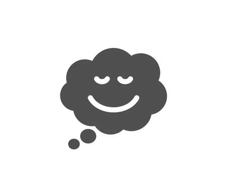 Comic speech bubble with Smile simple icon. Chat emotion sign. Quality design elements. Classic style. Vector.