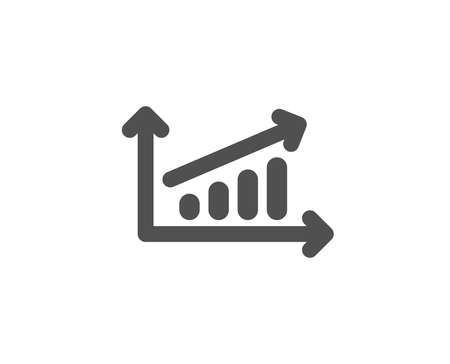 Chart simple icon. Report graph or Sales growth sign. Analysis and Statistics data symbol.