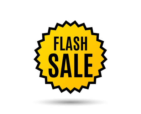 Flash Sale. Special offer price sign. Advertising Discounts symbol. Star button. Graphic design element. Vector