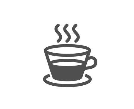 Coffee and Tea simple icon. Hot drink sign. Fresh beverage symbol. Quality design elements. Classic style Vector  イラスト・ベクター素材