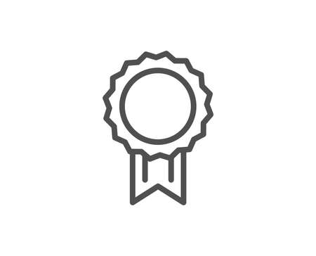 Award Medal line icon. Winner achievement symbol. Glory or Honor sign. Quality design element. Editable stroke Vector