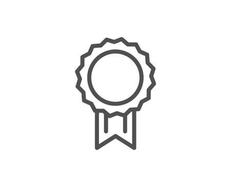 Award Medal line icon. Winner achievement symbol. Glory or Honor sign. Quality design element. Editable stroke Vector
