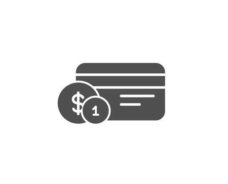 Credit card simple icon.