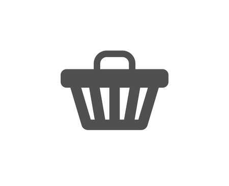 Shopping cart simple icon. Illustration