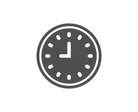 Clock simple icon. Illustration