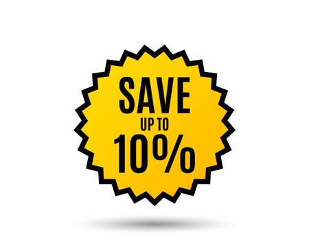 Save up to 10% Discount Sale offer price sign. Special offer symbol. Standard-Bild - 95847798